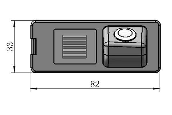 Parkovací kamera Dacia Duster, Logan, Sandero, Lodgy 2010, 2011, 2012, 2013, 2014, 2015, 2016, 2017, 2018, 2019
