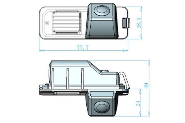 Couvací kamera Seat Leon, 2013, 2014, 2015, 2016, 2017, 2018, 2019