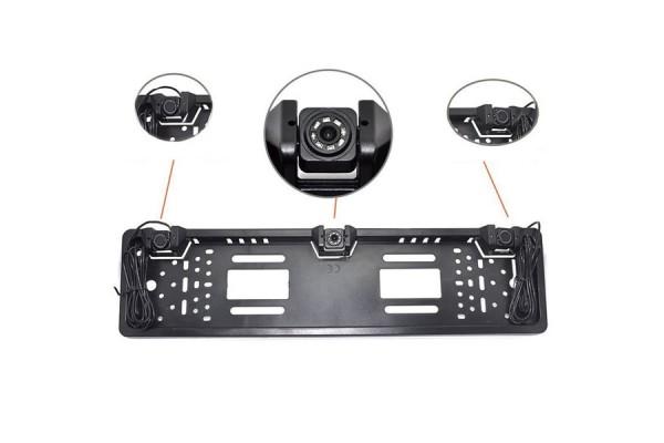 Držák SPZ s parkovacími senzory a couvací kamerou
