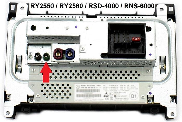 zapojení Farka RCA na obrazovku v mercedes benz a vw crafter