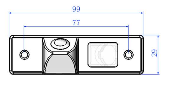 rozmery Chevrolet  couvací kamera - model 1