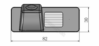 rozmery Chevrolet  couvací kamera - model 2