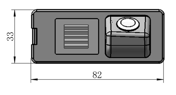 rozmery Dacia couvací kamera - model 2