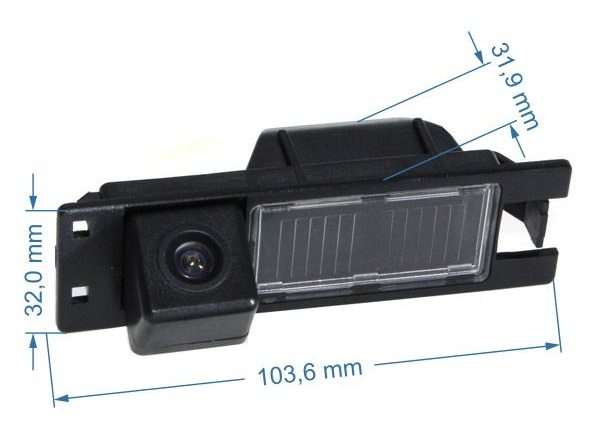 rozmery Fiat couvací kamera - model 1