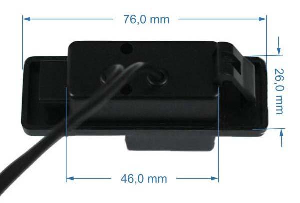 rozmery Fiat couvací kamera - model 2