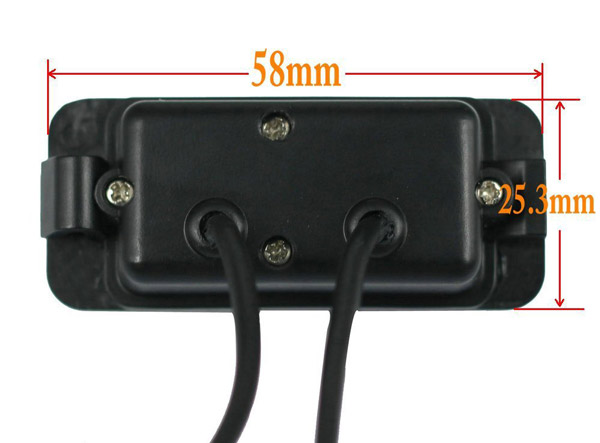 rozmery Ford couvací kamera - model 1