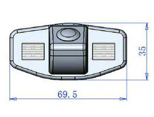 rozmery Honda couvací kamera - model 1