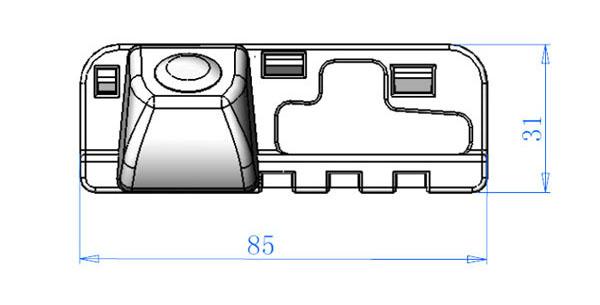 rozmer couvcí kamery Honda Civic 8. generace