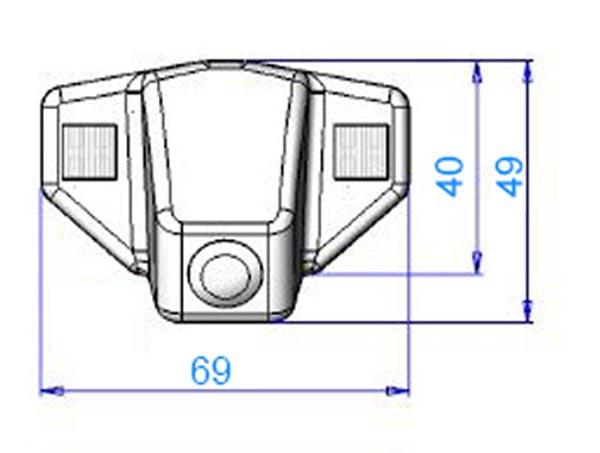 rozmery Honda couvací kamera - model 4