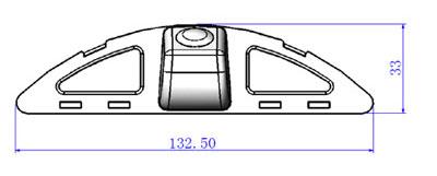 rozmery Honda couvací kamera - model 5