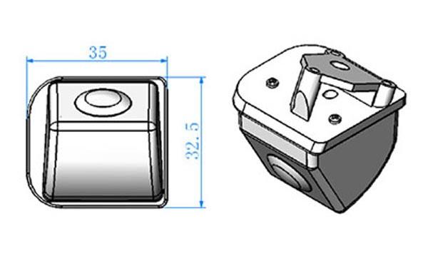 rozmery Honda couvací kamera - model 6