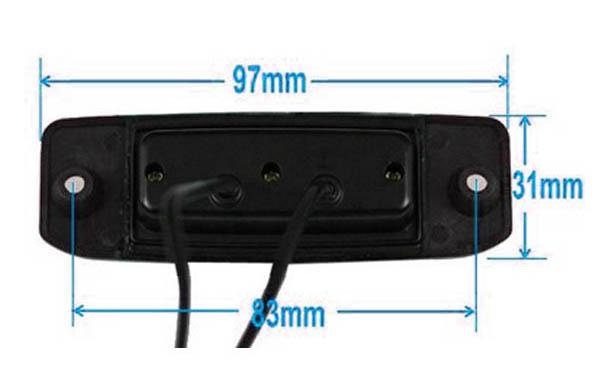 rozmery Hyundai couvací kamera - model 1