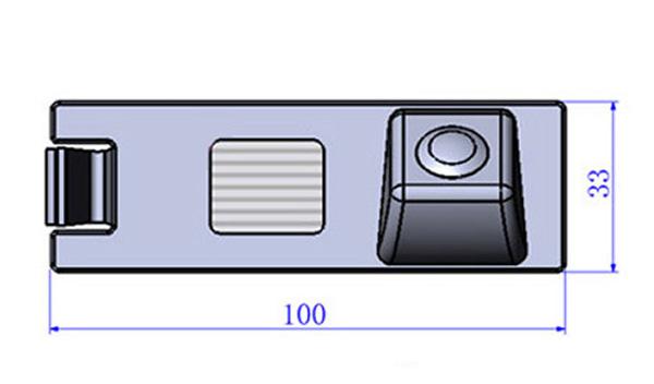 rozmery Hyundai couvací kamera - model 2