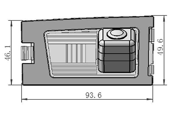 rozmery Jeep couvací kamera - model 1