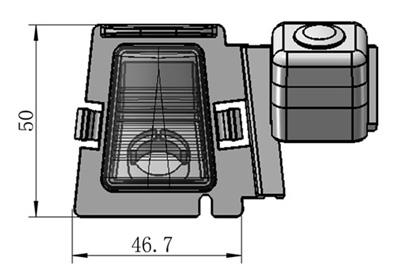 rozmery Jeep couvací kamera - model 2