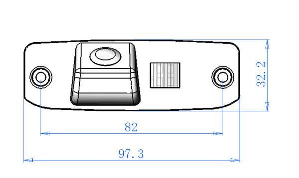 rozmery KIA couvací kamera - model 4