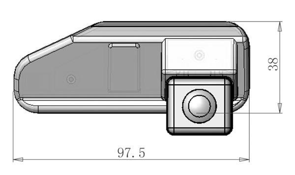rozmery Lexus couvací kamera - model 1