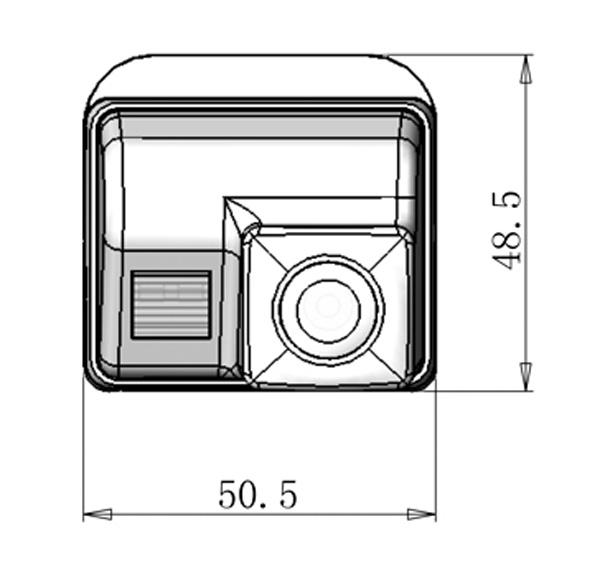 rozmery Mazda couvací kamera - model 1