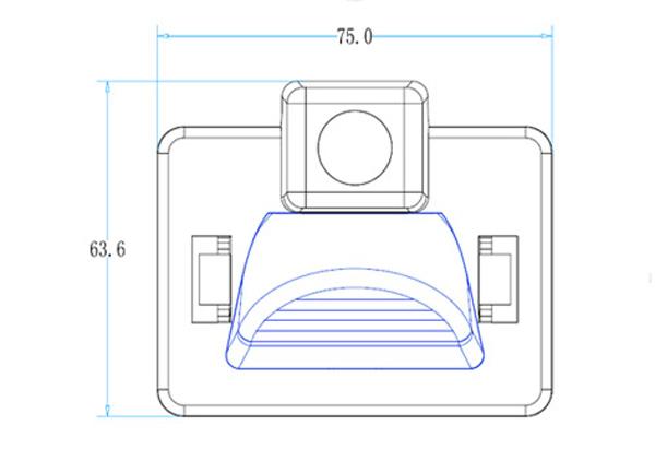 rozmery Mazda couvací kamera - model 4