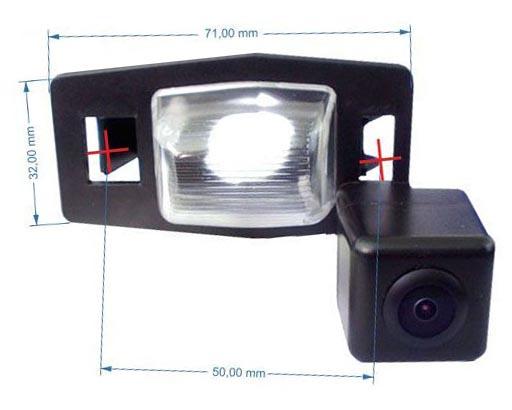 rozmery Mazda couvací kamera - model 6