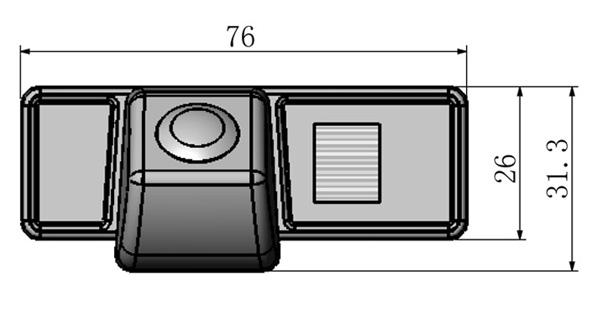 rozmery Mercedes-Benz couvací kamera - model 3