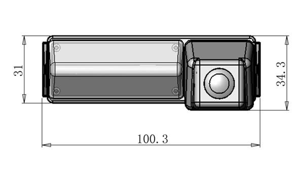 rozmery Mitsubishi couvací kamera - model 5