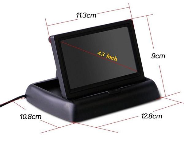 rozmery Sklápěcí monitor do auta 4.3