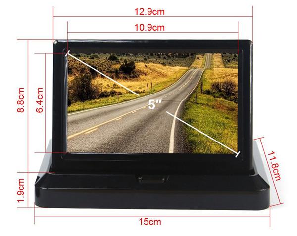 rozmery na monitor sklapaci do auta pro couvací kameru