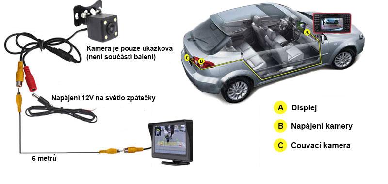 schema pre Stojanový monitor do auta 4.3