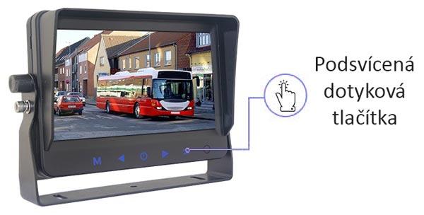 monitor ahd 6,2 palci s dotykovými tlačítky