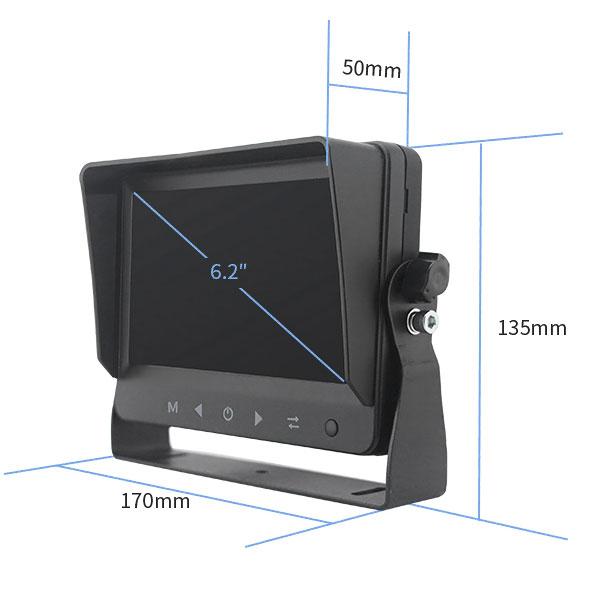 monitor ahd 6,2 palcu ke kamere rozměry