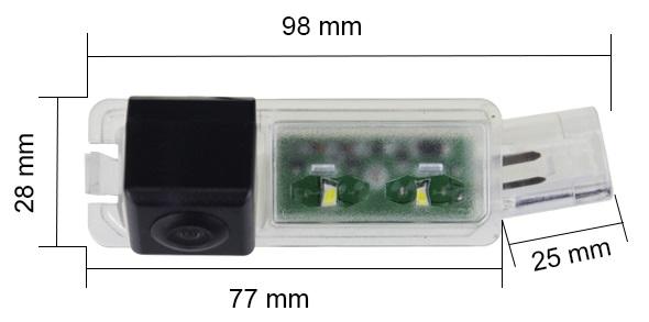 rozmery Porsche couvací kamera