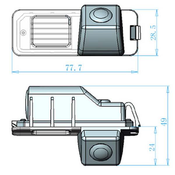 rozmery Seat couvací kamera - model 1