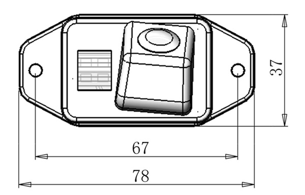 rozmery Toyota couvací kamera - model 1
