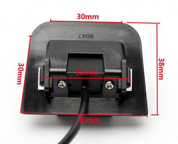 rozmery Toyota couvací kamera - model 5