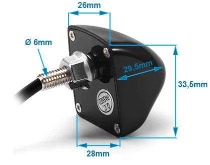 univerzální kovová parkovací kamera UNI-METAL