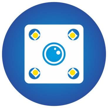 obrázek znázorňující funkci rozšíření o 4-LED přisvětlení k couvací kameře