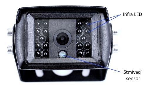 Couvací kamera na kamion s 18 IR LED