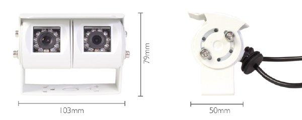kamera vestys duo se dvěma kamerami rozměry