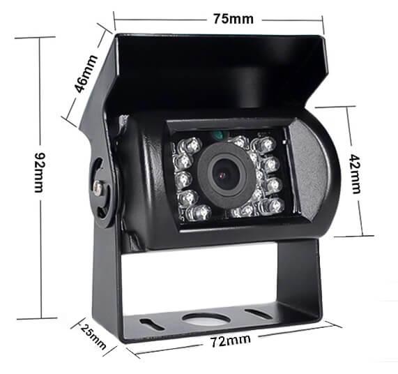 Couvací kamera pro nákladní auto vestys classic cc-012 rozměry kamery