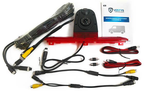 couvaci kamera Fiat Ducato dual - obsah balenií