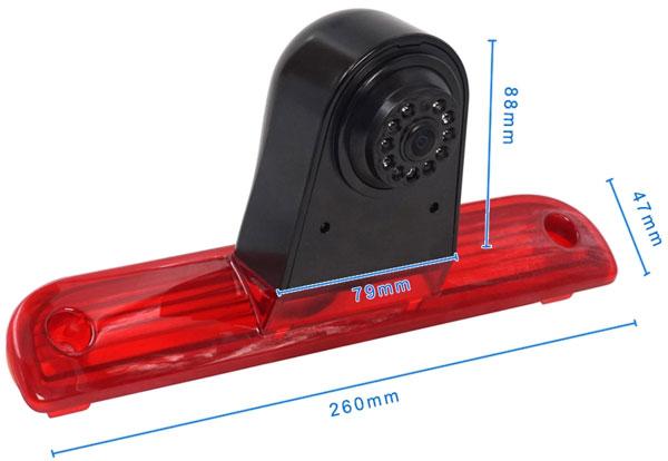 rozmery couvací kamery Fiat Ducato