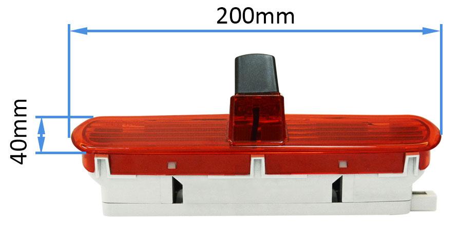 rozměry couvací kamery pro Fiat Doblò 2
