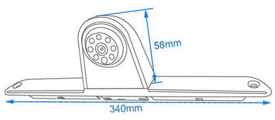 rozmery couvací kamery Volkswagen Crafter