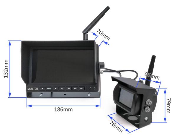 wifi bezdrátový set cuvacia kamera a monitor ahd rozměry